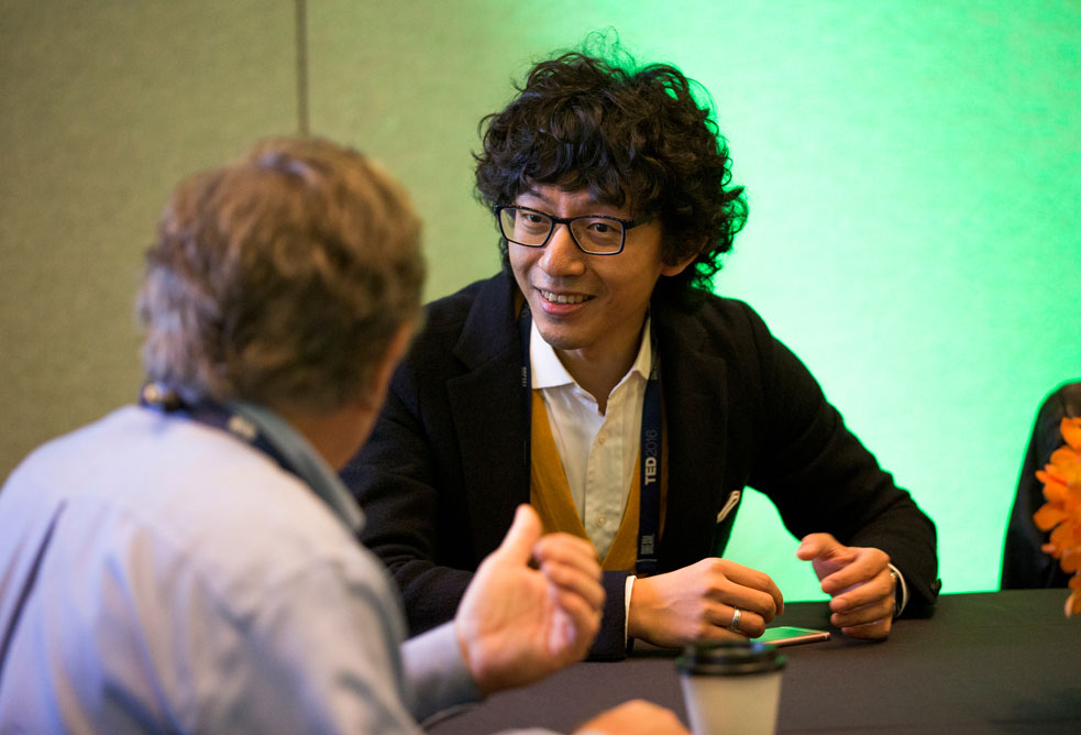 At TED2016, producer Richard Yu brainstorms ideas for future schools at a conversation supported by the Robert Wood Johnson Foundation. Photo: TED