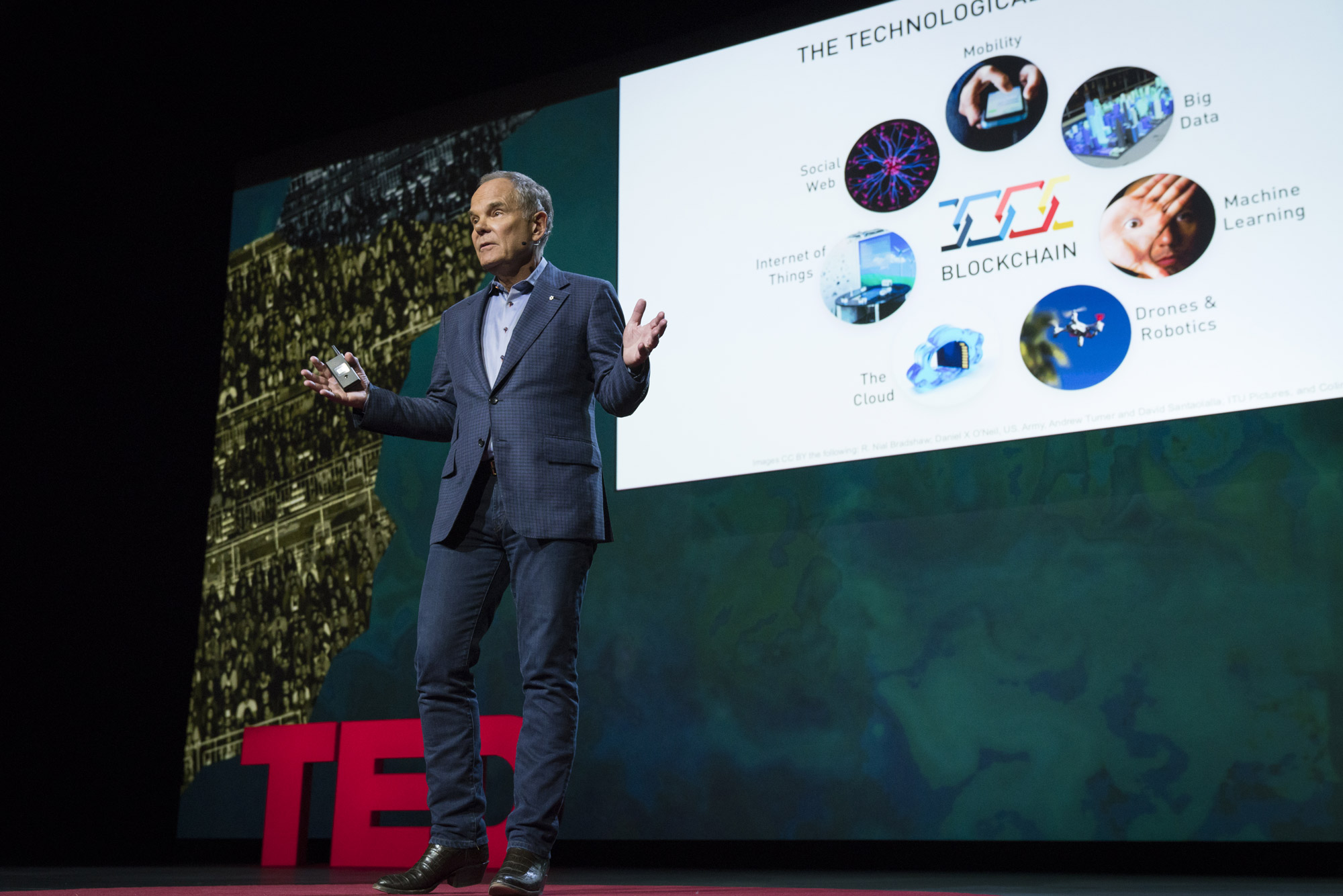 Don Tapscott imagines a future of relationships powered by blockchain. Photo: Bret Hartman