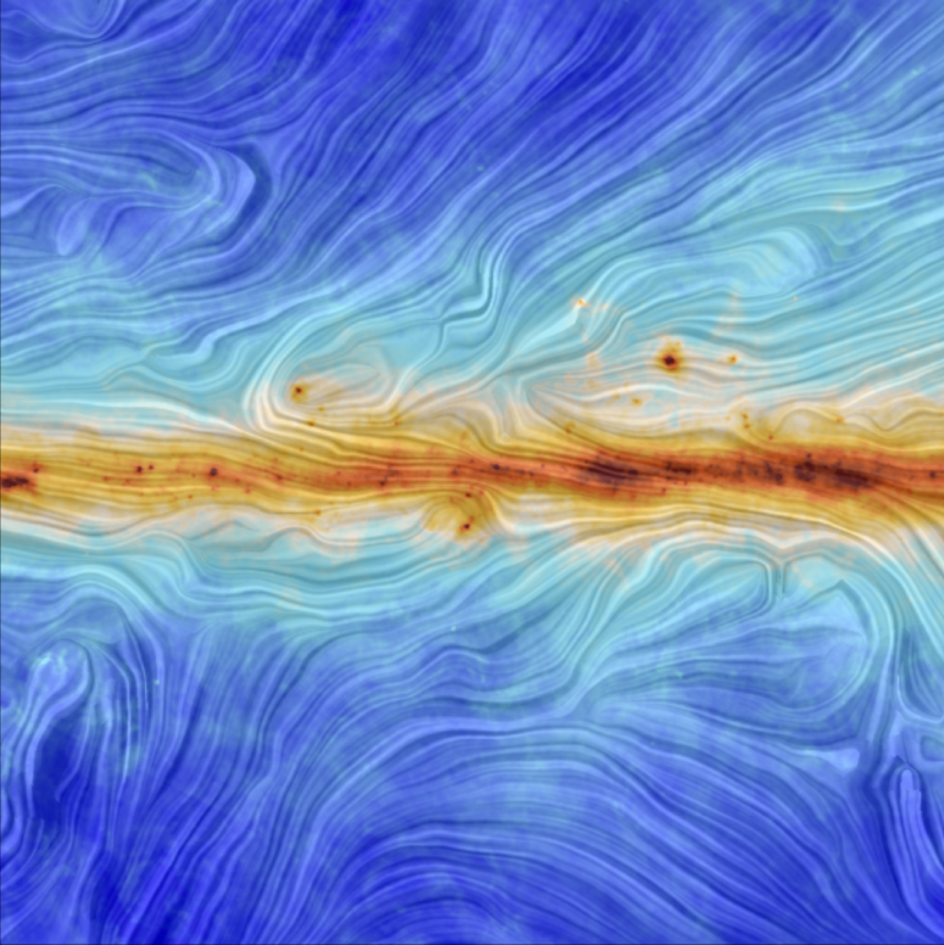 South African astrophysicist Renee Hlozek studies light patterns that reveal the total intensity of light emitted by interstellar dust in the Milky Way, revealing the structure of our galaxy's magnetic field to better understand the initial conditions of our universe. Photo: ESA/Planck Collaboration