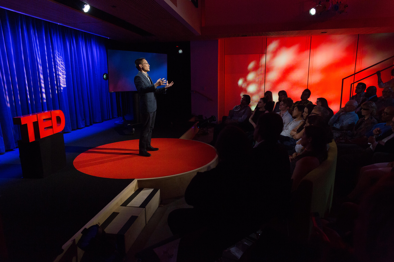 Eric Liu speaks at TEDNYC. (Photo: Ryan Lash / TED)