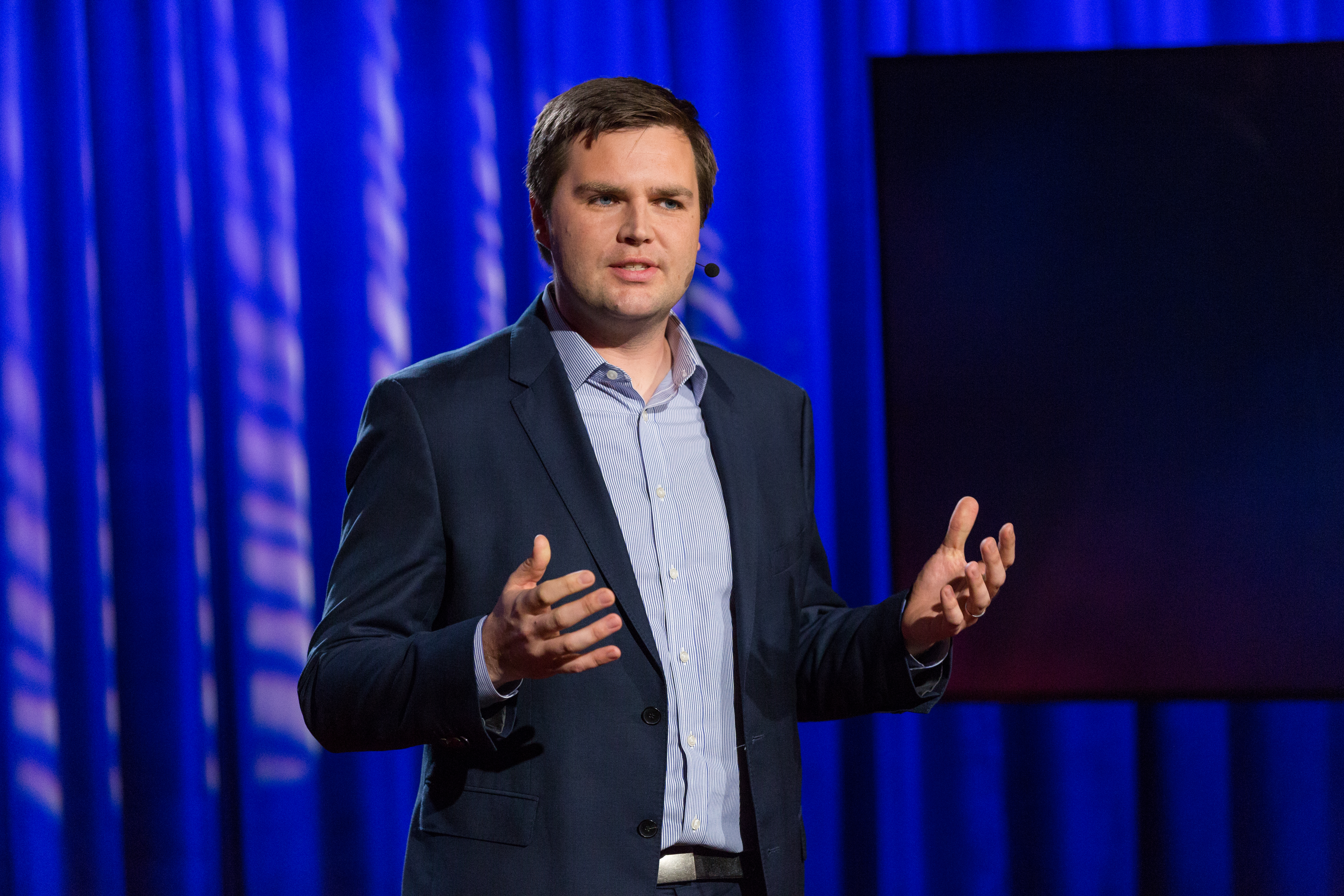J.D. Vance speaks at TEDNYC - The Election Edition, September 7, 2016, New York, NY. (Photo: Ryan Lash / TED)