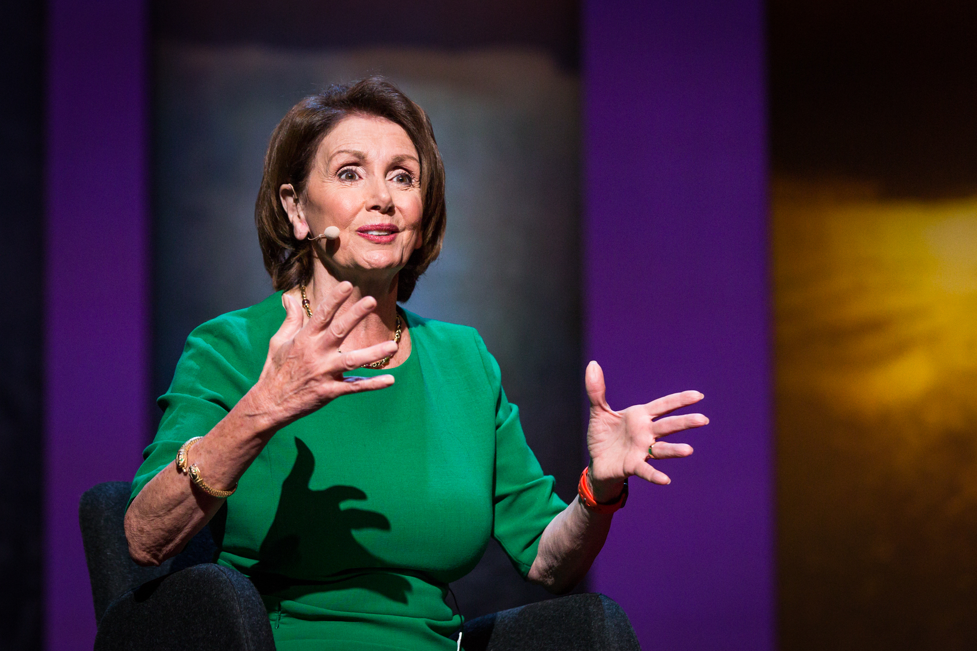 Nancy Pelosi at TEDWomen 2016 - It's About Time,  October 26-28, 2016, Yerba Buena Centre for the Arts, San Francisco, California. Photo: Marla Aufmuth / TED