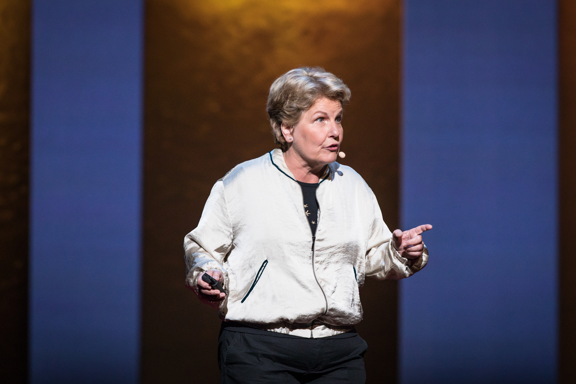 Sandi Toksvig at TEDWomen 2016 - It's About Time, October 26-28, 2016, Yerba Buena Centre for the Arts, San Francisco, California. Photo: Marla Aufmuth / TED