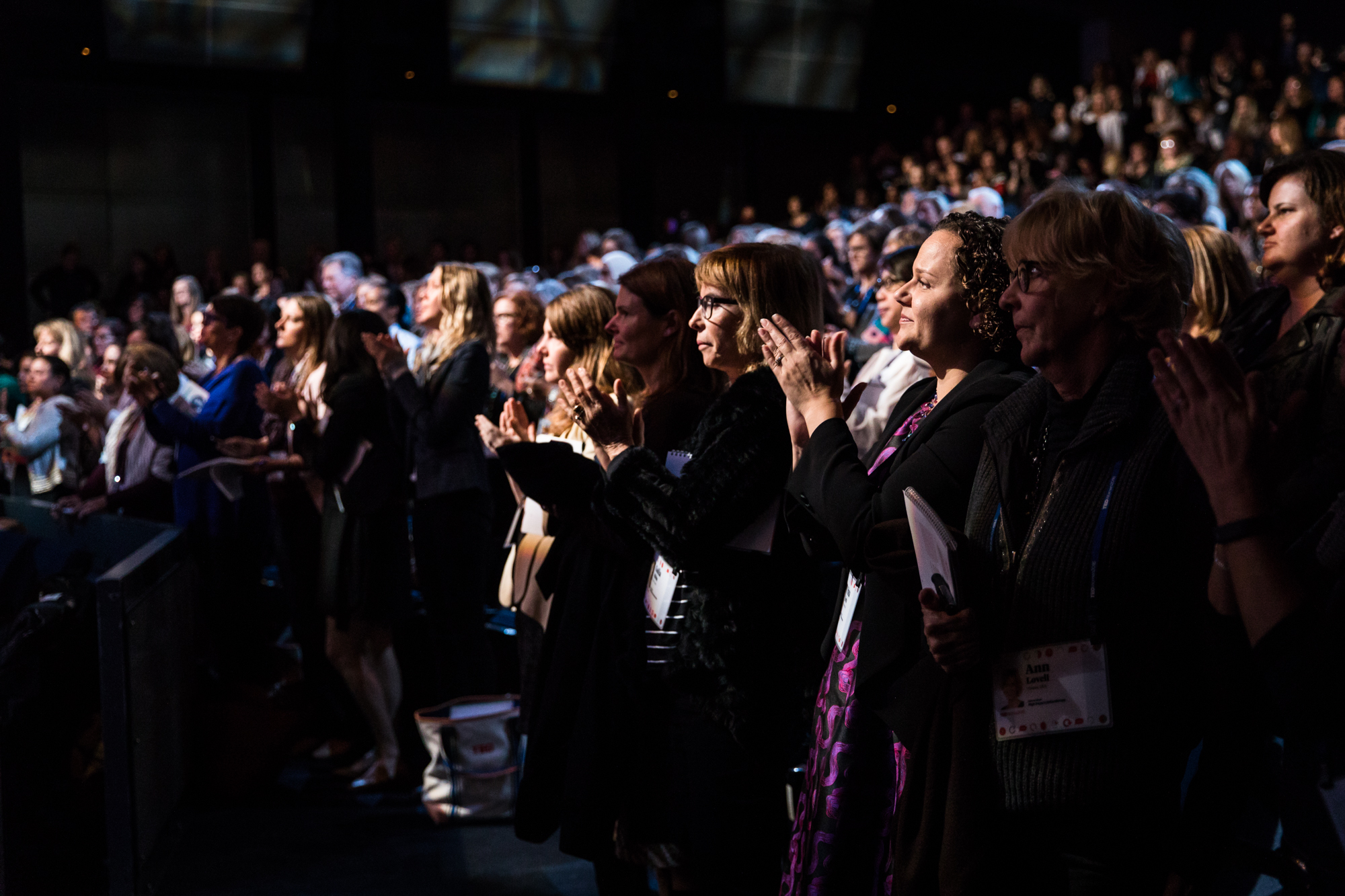 Standing ovation for Thordis Elva and Tom Stranger at TEDWomen 2016 - It's About Time, October 26-28, 2016, Yerba Buena Centre for the Arts, San Francisco, California. Photo: Marla Aufmuth / TED