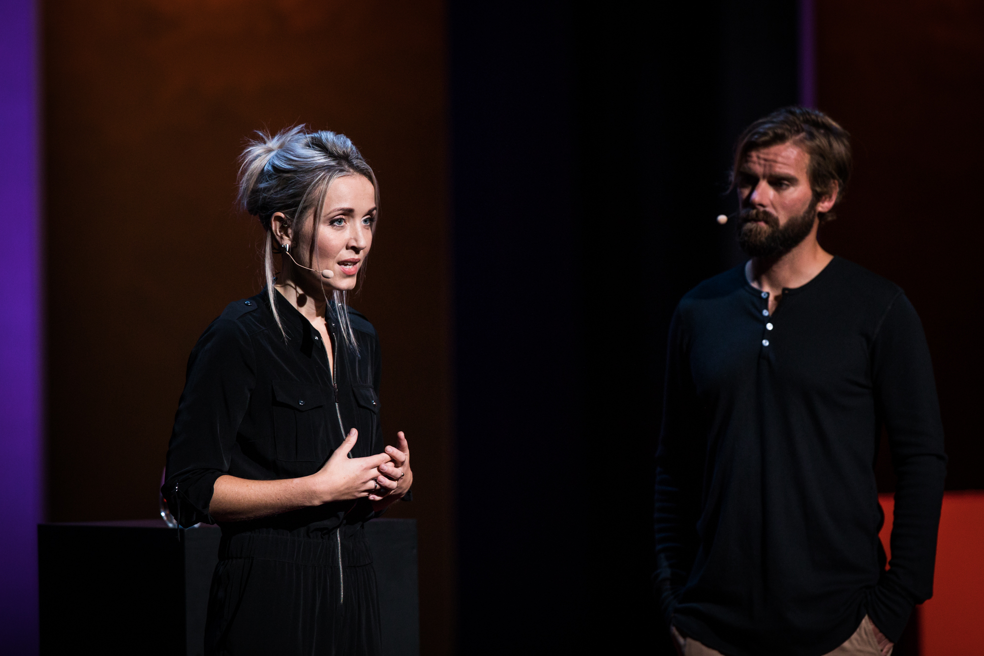 Thordis Elva and Tom Stranger at TEDWomen 2016 - It's About Time, October 26-28, 2016, Yerba Buena Centre for the Arts, San Francisco, California. Photo: Marla Aufmuth / TED