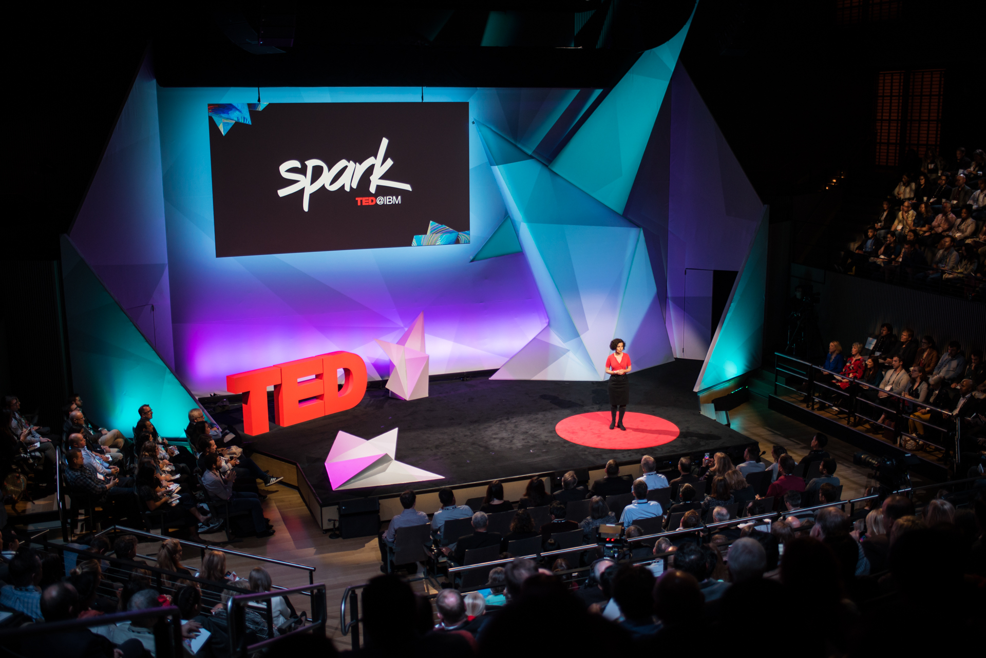 Michela Stribling speaks at TED@IBM salon - Spark, November 16, 2016, San Francisco Jazz, San Francisco, California. Photo: Russell Edwards/TED