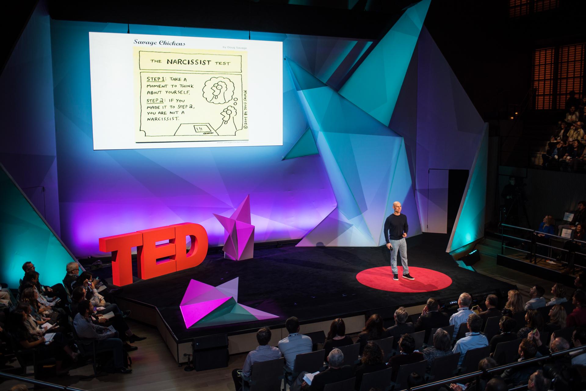 Adam Grant speaks at TED@IBM salon - Spark, November 16, 2016, San Francisco Jazz, San Francisco, California. Photo: Russell Edwards/TED