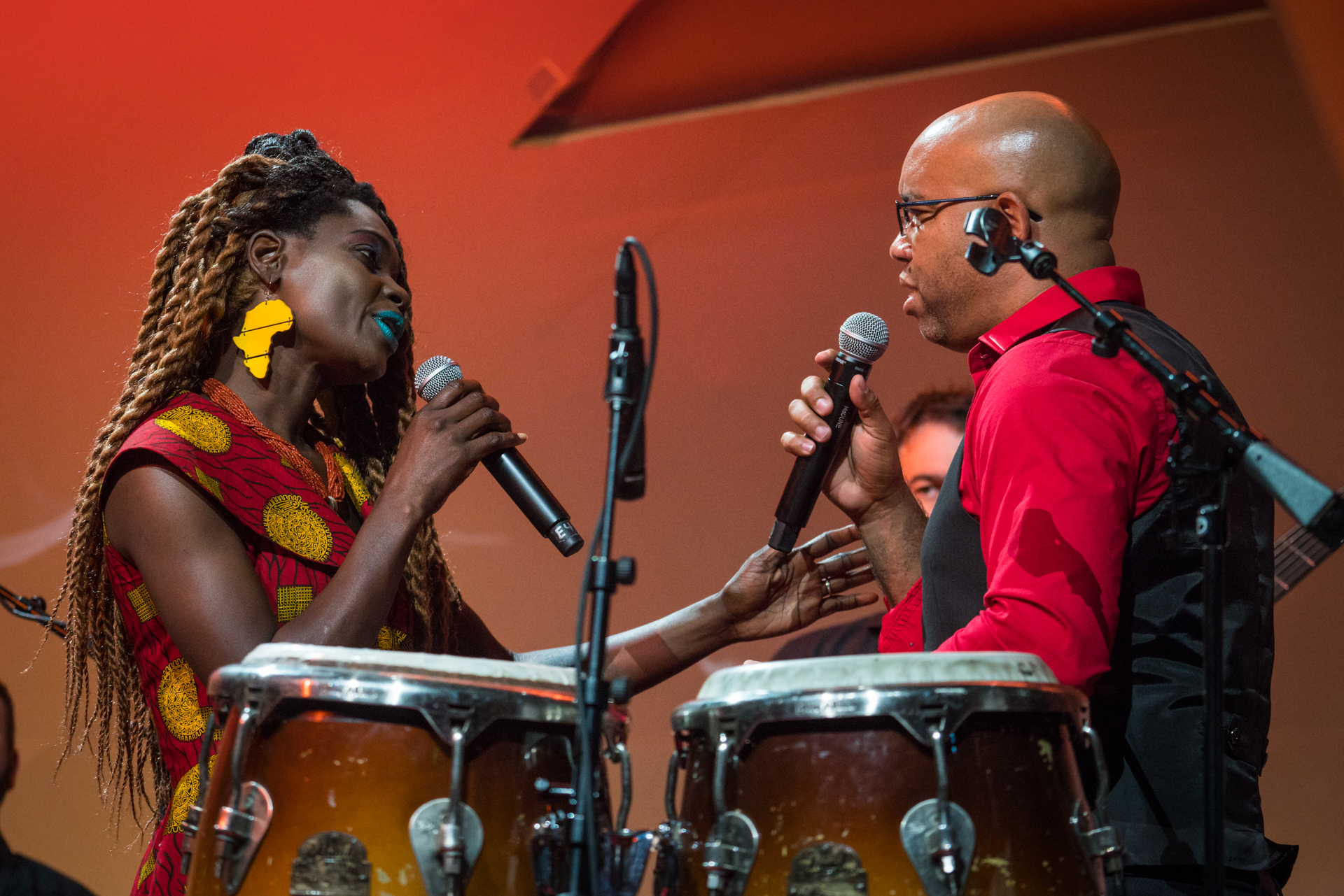 Fred Clarke and Wobby World performing at TED@IBM salon - Spark, November 16, 2016, San Francisco Jazz, San Francisco, California. Photo: Russell Edwards/TED