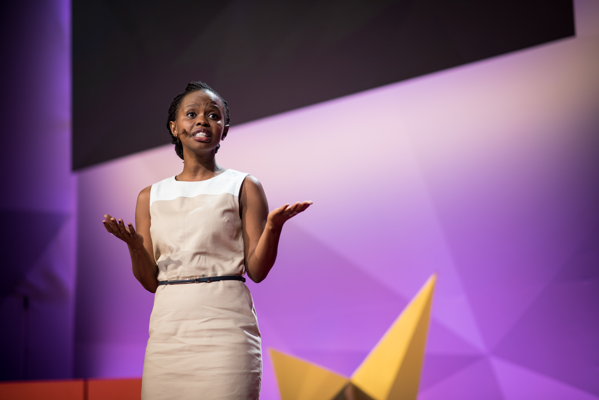 Charity Wayua speaks at TED@IBM salon - Spark, November 16, 2016, San Francisco Jazz, San Francisco, California. Photo: Russell Edwards/TED