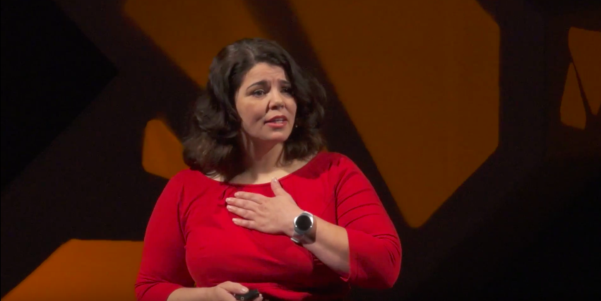 Celeste Headlee offers four insights for better political conversations. Yes, even this year. Screengrab courtesy TEDxSeattle