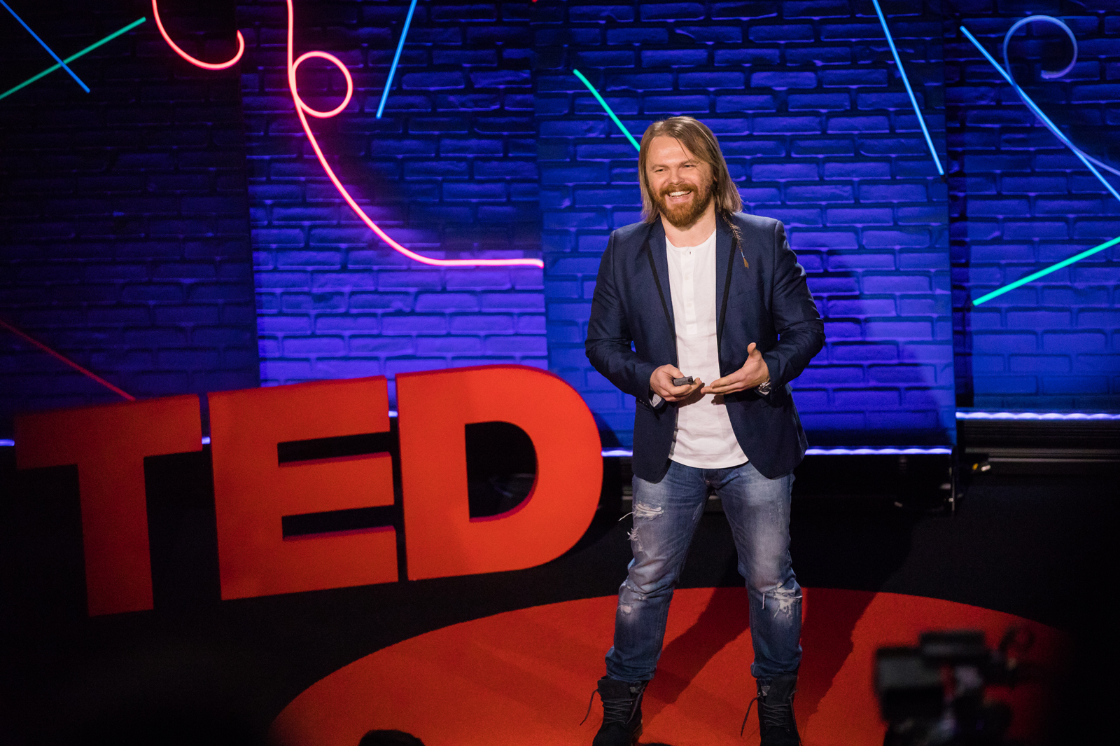 Evgeny Chereshnev speaks at TED Talent Search 2017 - Ideas Search, January 26, 2017, New York, NY. Photo: Anyssa Samari / TED