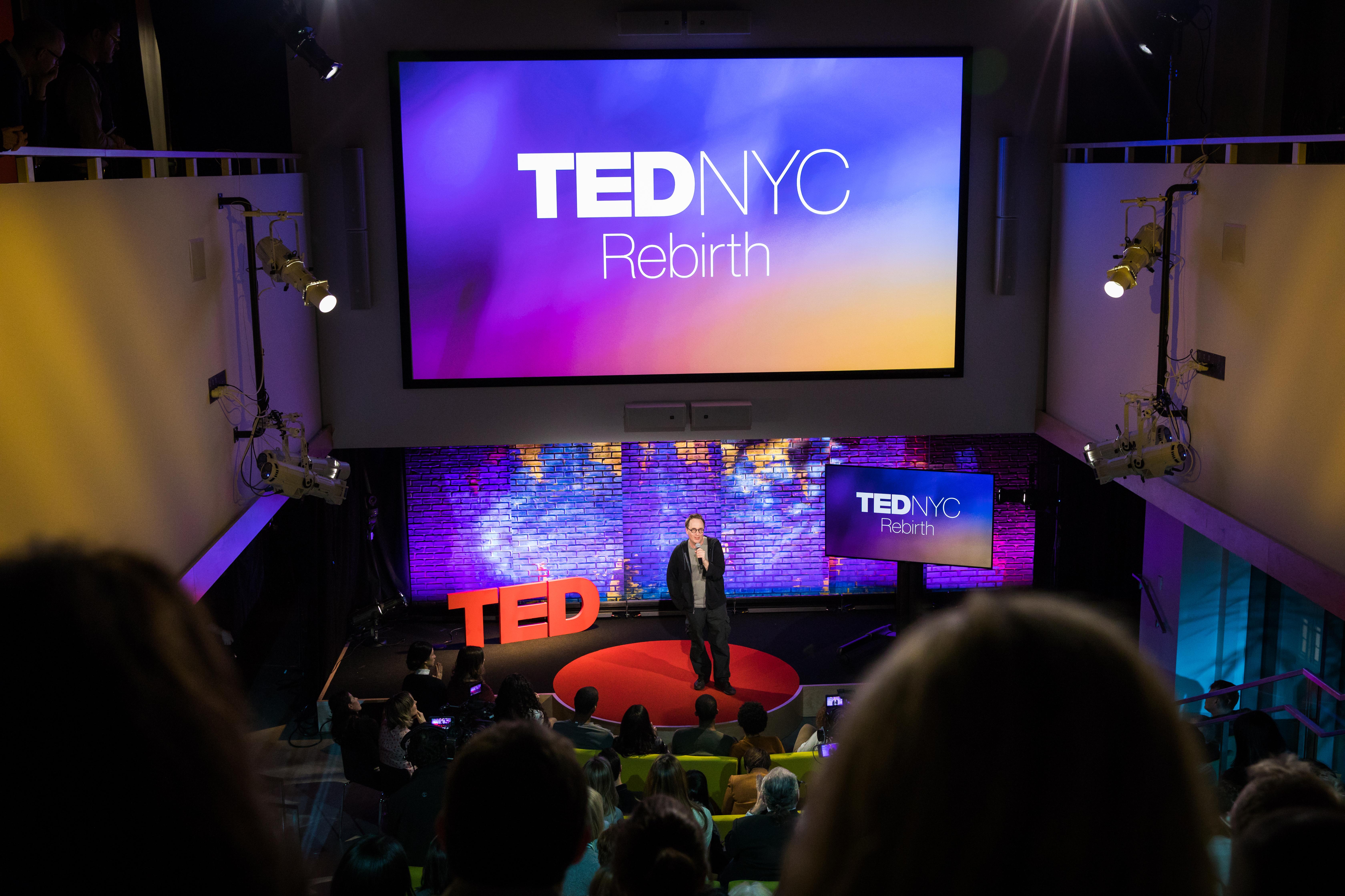Jon Ronson speaks at TEDNYC - Rebirth, February 15, 2017, New York, NY. Photo: Dian Lofton / TED