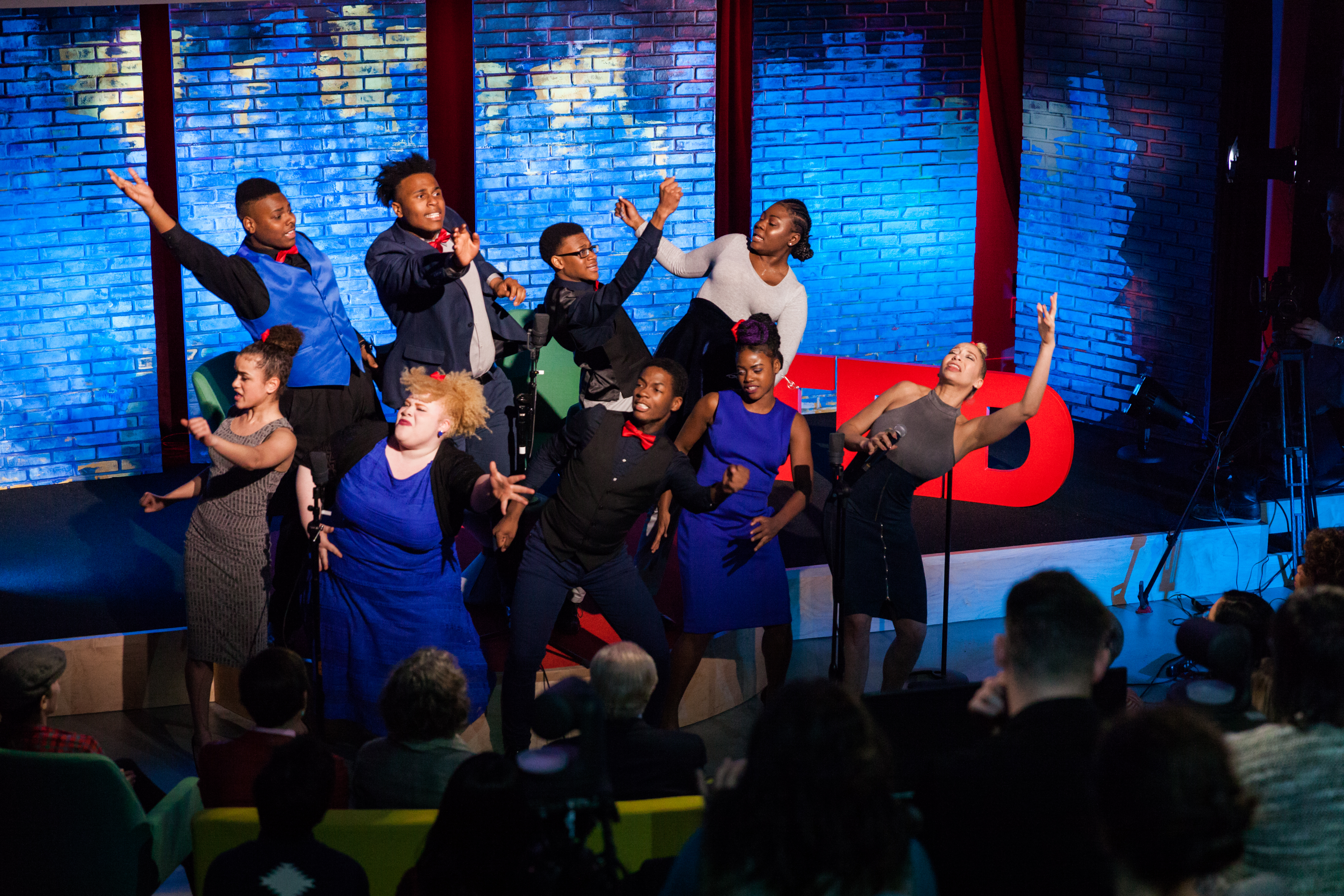 Vy Higgensen's Gospel Choir performs at TED Dialogues via Facebook Live, March 01, 2017, New York, NY. Photo: Dian Lofton / TED