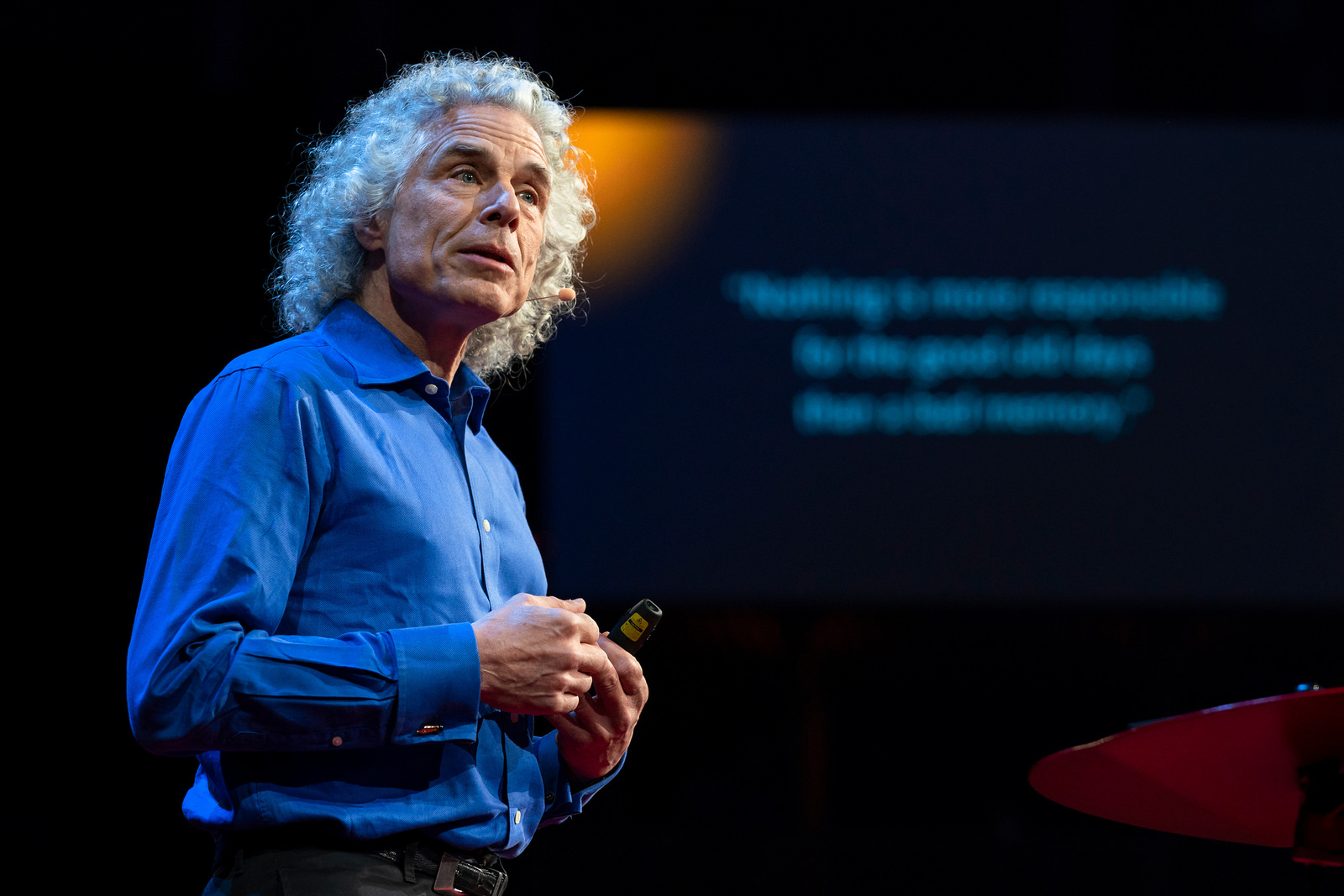 Steven Pinker. Photo: Bret Hartman / TED