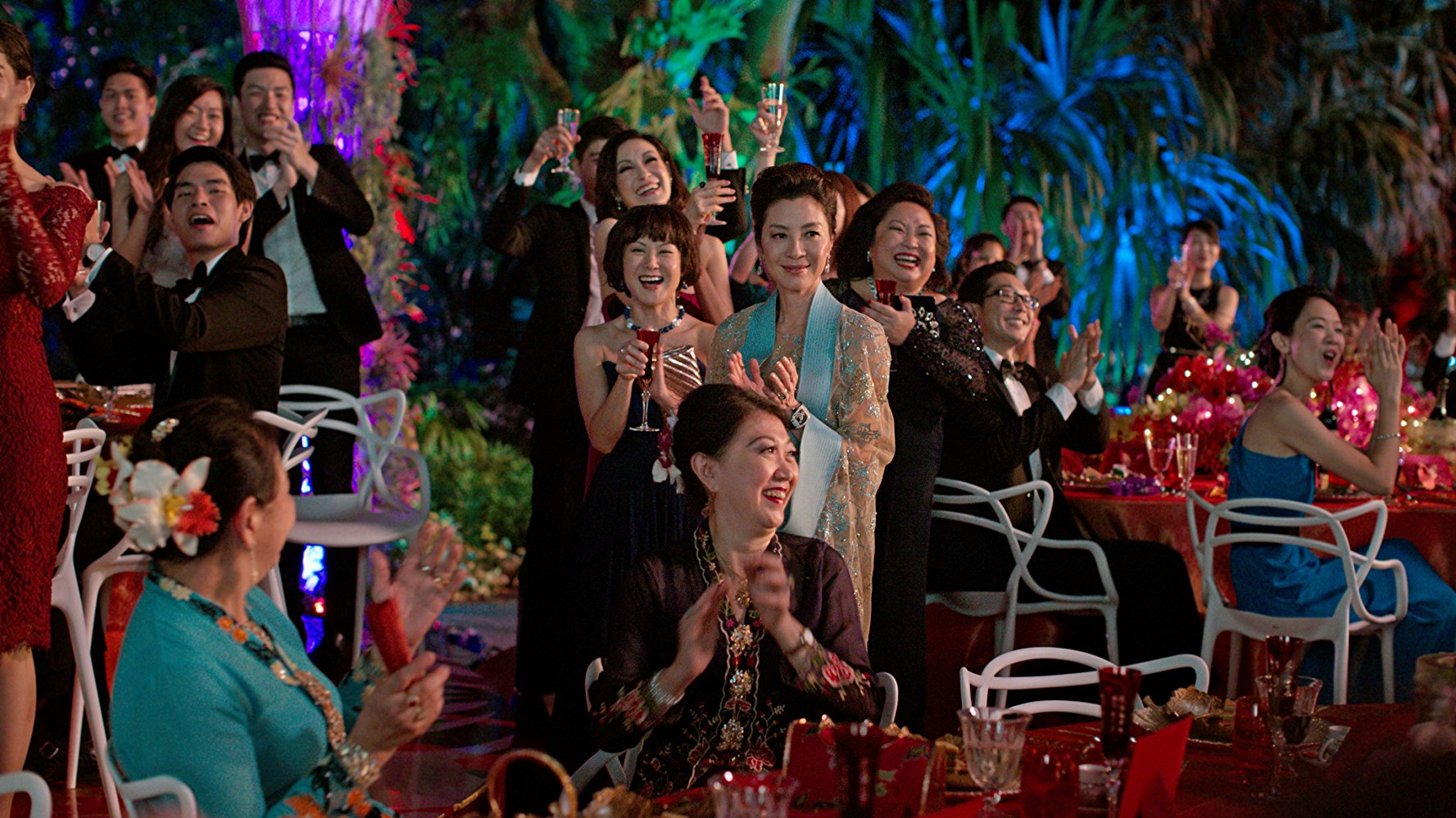 """Actress Michelle Yeoh in a scene from """"Crazy Rich Asians."""" (Photo by Sanja Bucko)© 2017 Warner Bros. Entertainment Inc. and SK Global Entertainment"""