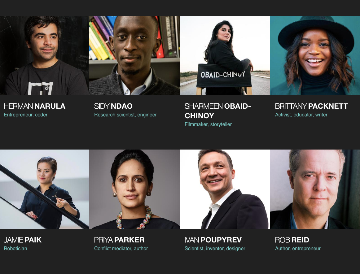 8 speakers from TED2019