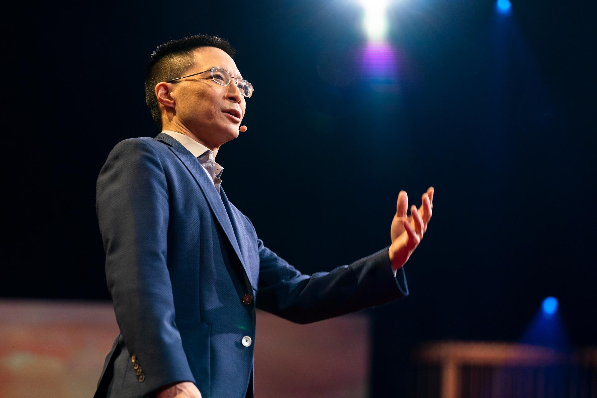 Eric Liu speaks at TED2019