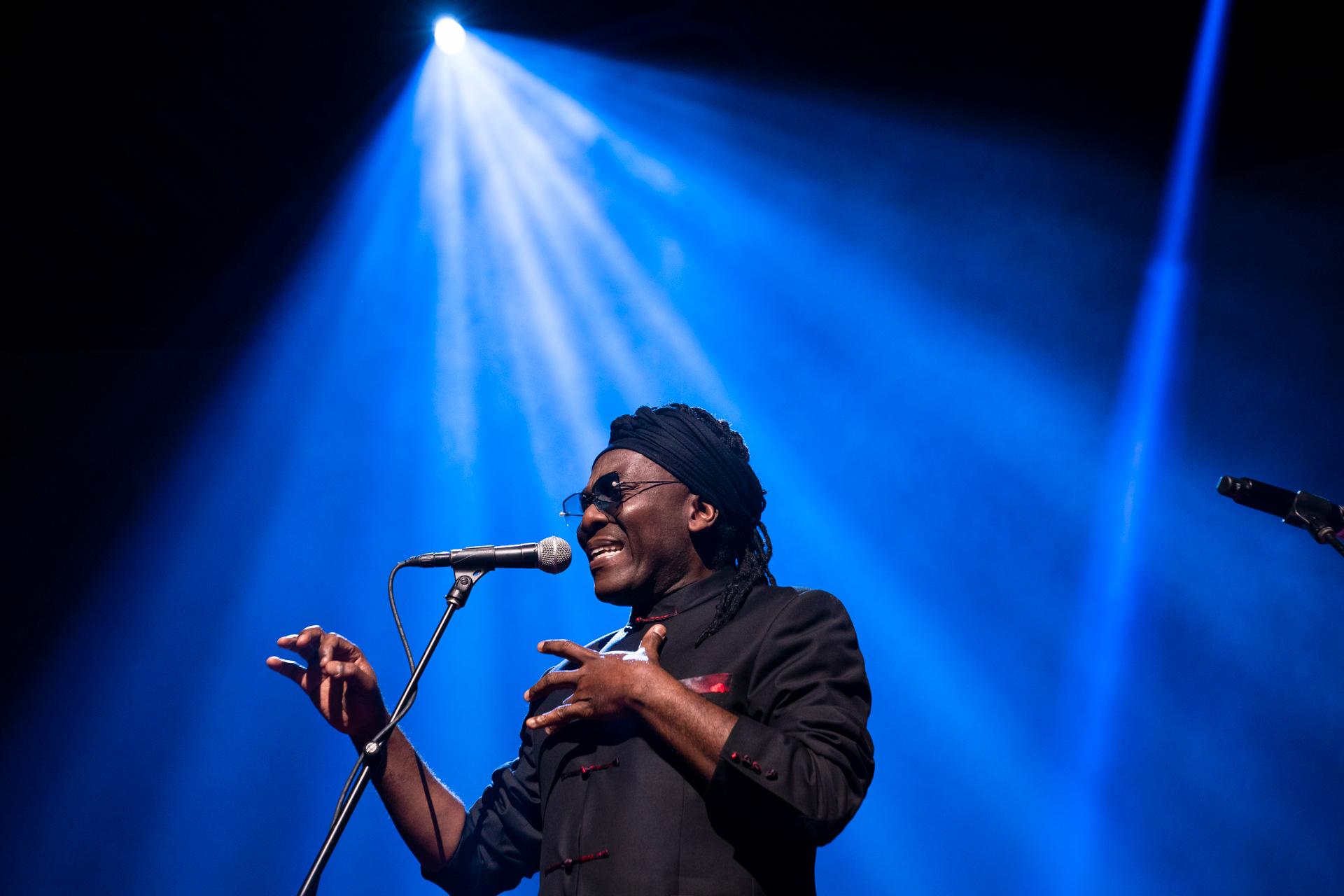 Richard Bona performs at TED2019