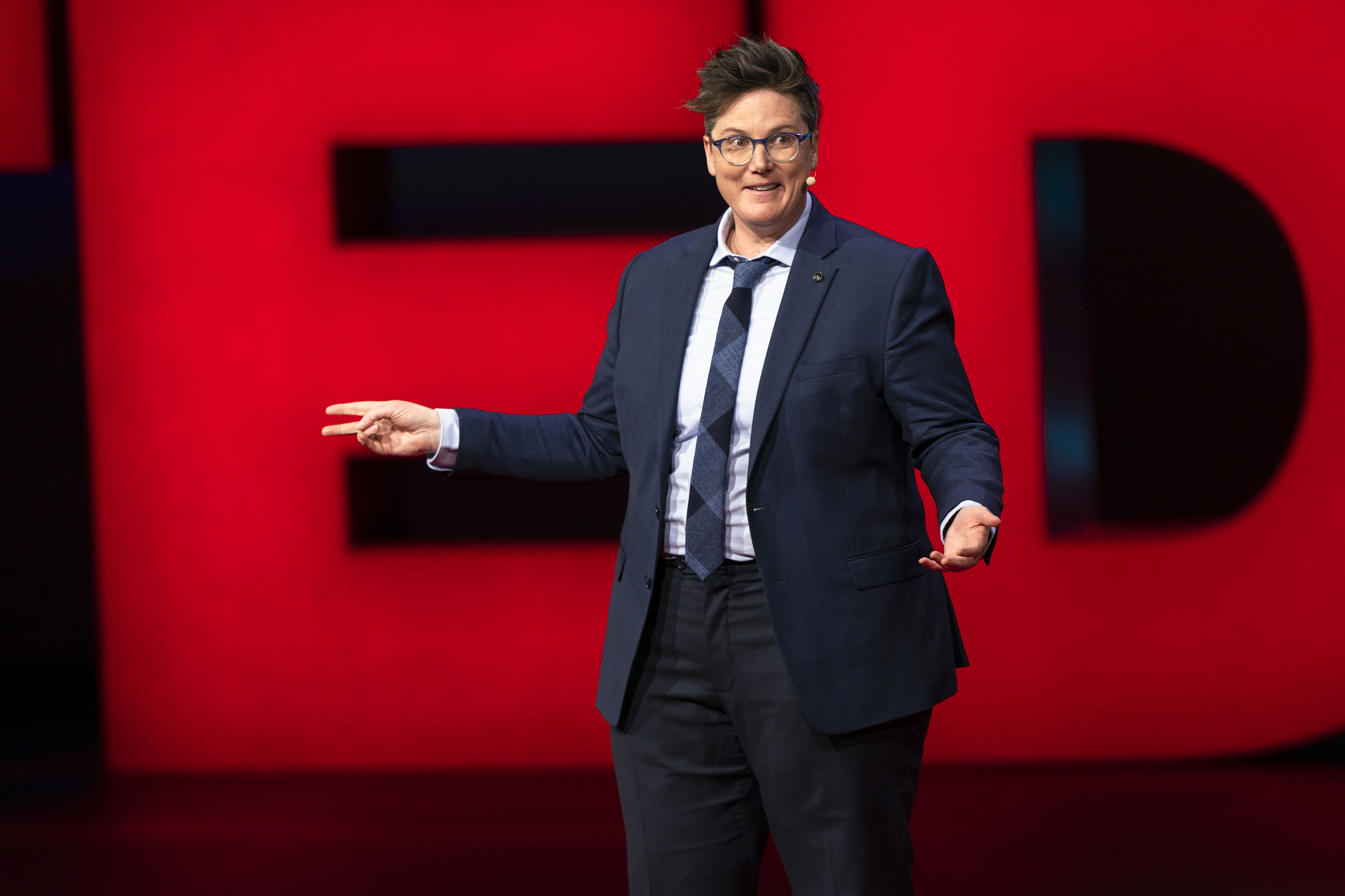 Hannah Gadsby speaks at TED2019