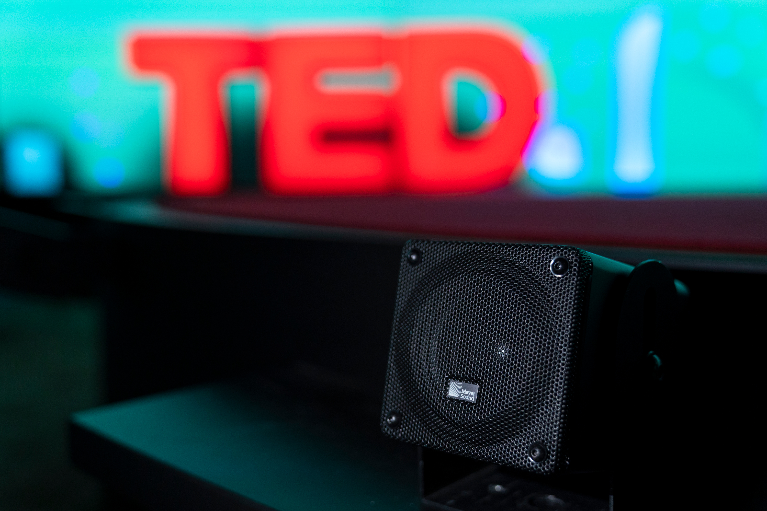 Small but mighty speakers from Meyer Sound helped bring sound into the front rows at TED2019