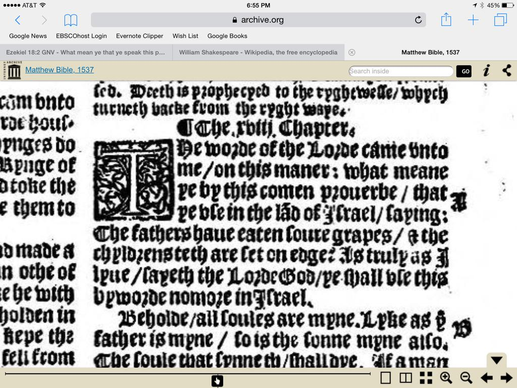 A screen capture from the 1537 Matthew Bible, via archive.org.