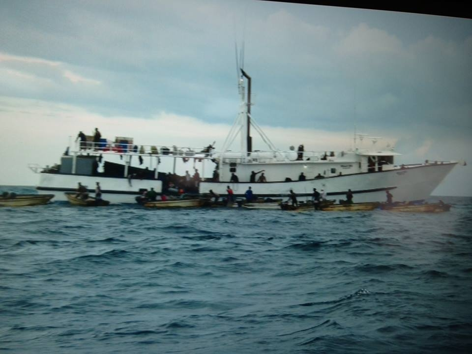 Photo courtesy of the President of the Bahamas Fishery Union
