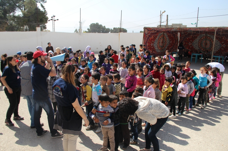 """A camp for 1000 kids we held on the Jordanian-Syrian border."" Photo courtesy of Aziz Abu Sarah"