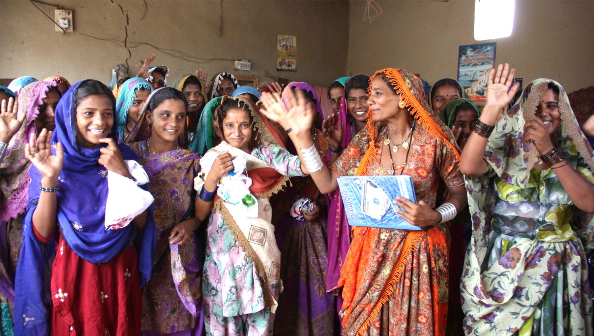 Women at the Zughar Center in Umerkot, Pakistan.
