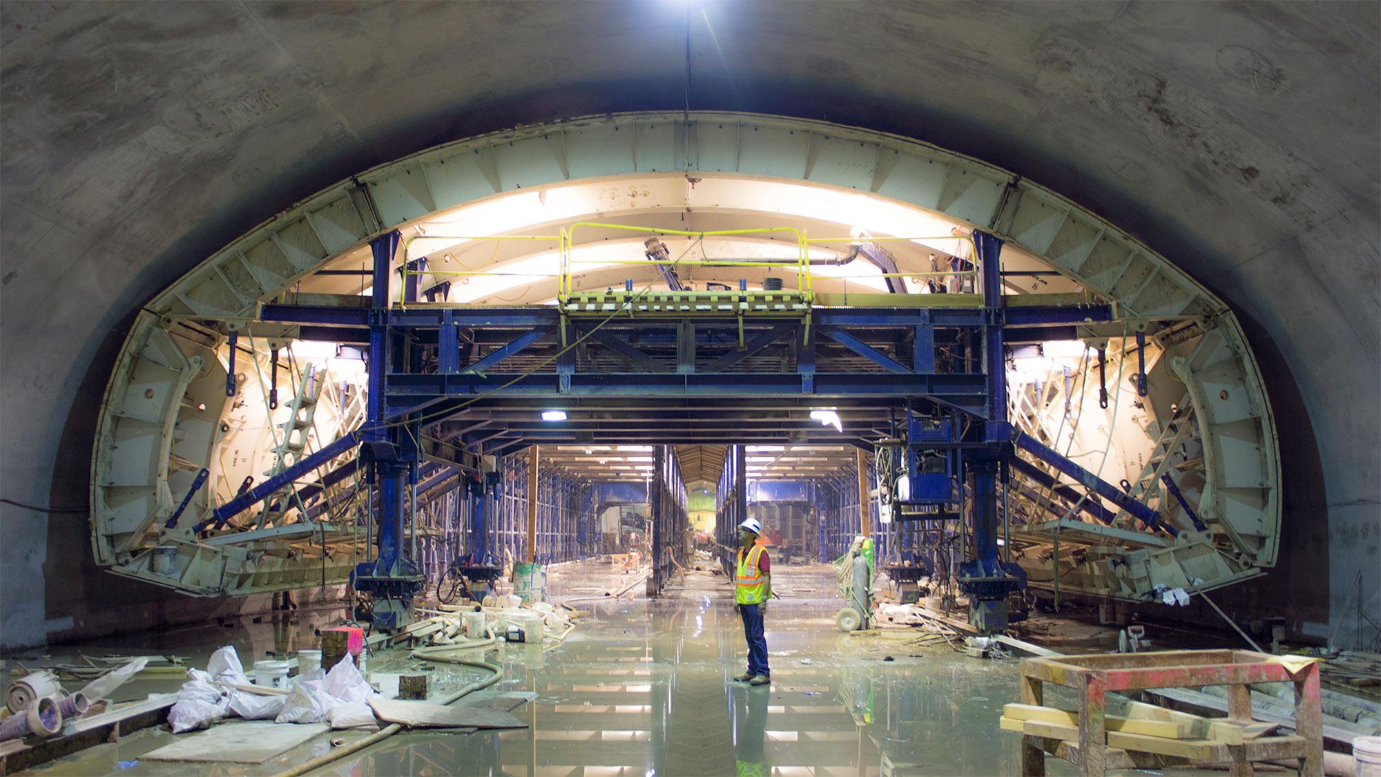 A peek inside the Second Avenue Subway's 72nd Street station. Photo: MTA Capital Construction / Rehema Trimiew.