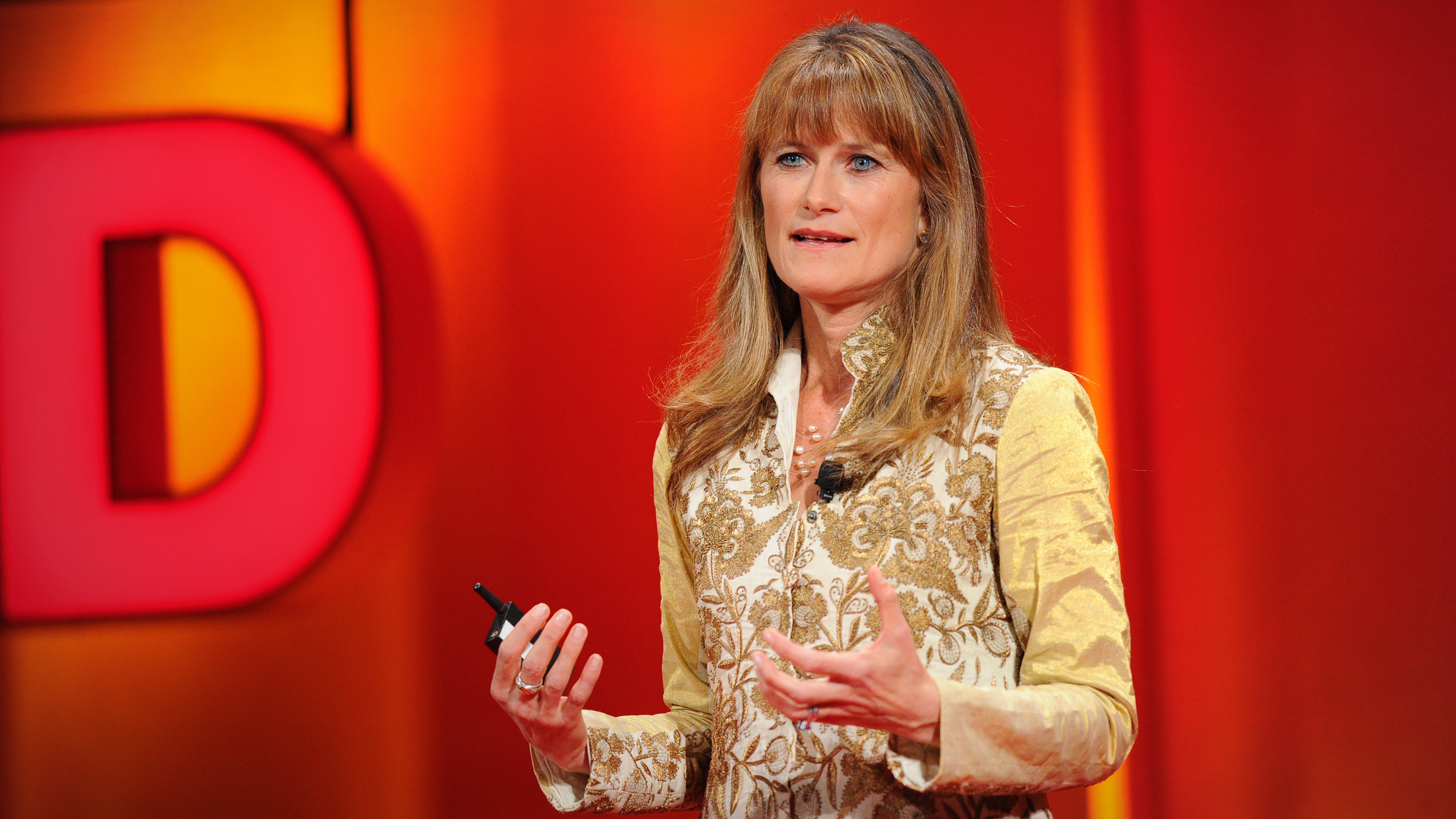 Jackqueline Novogratz at TEDWomen in 2010, where she gave her fifth TED Talk after many years of public speaking. Photo by James Duncan Davidson